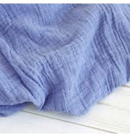 The Sugar House Sugar + Maple Muslin Swaddle - Blue