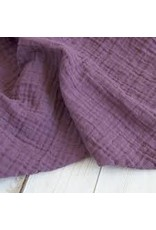 The Sugar House Sugar + Maple Muslin Swaddle - Dusty Violet