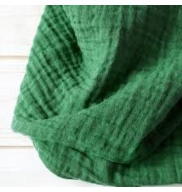 The Sugar House Sugar + Maple Muslin Swaddle - Forest Green