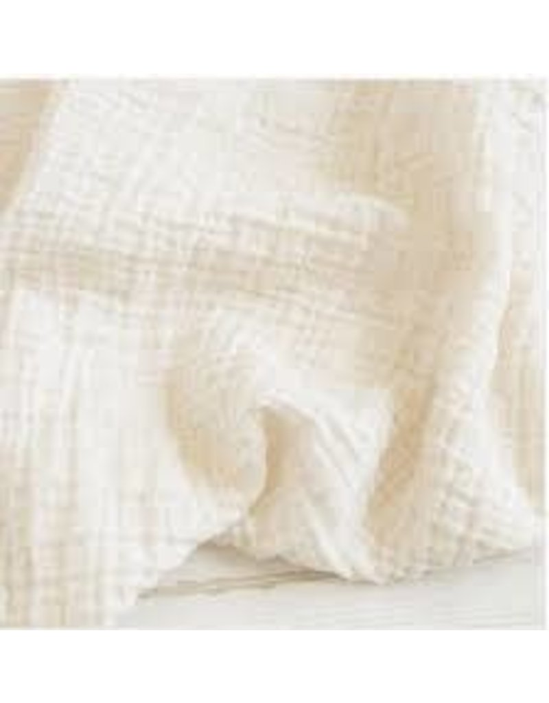 The Sugar House Sugar + Maple Muslin Swaddle - Ivory