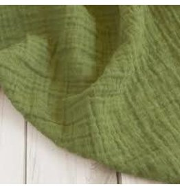 The Sugar House Sugar + Maple Muslin Swaddle - Olive Green