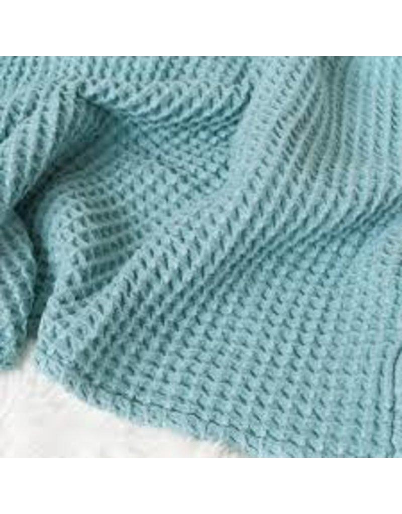 The Sugar House Sugar + Maple Honeycomb blanket - Ocean