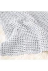 The Sugar House Sugar + Maple Honeycomb blanket - Pale Blue