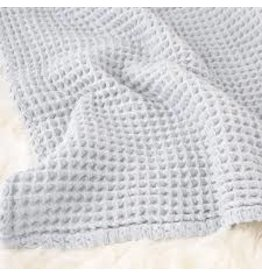 The Sugar House Sugar + Maple Honeycomb blanket - Pale Blue