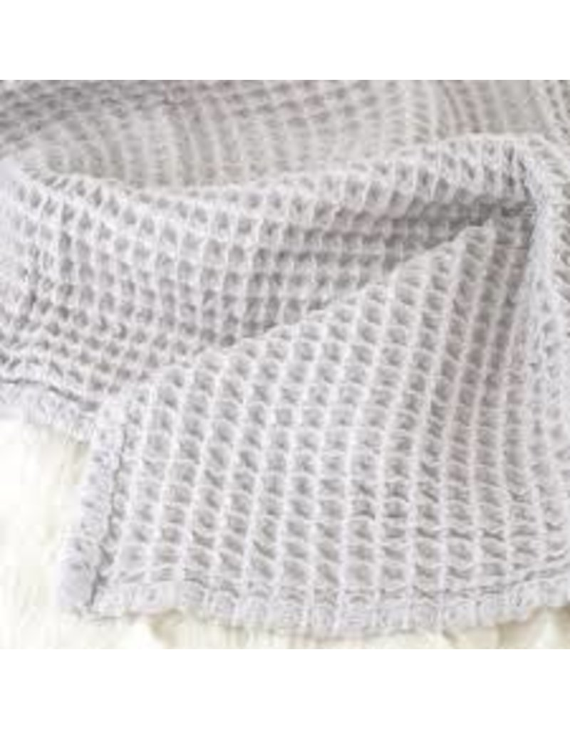The Sugar House Sugar + Maple Honeycomb blanket - Light Gray