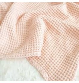 The Sugar House Sugar + Maple Honeycomb blanket - Pale Peach