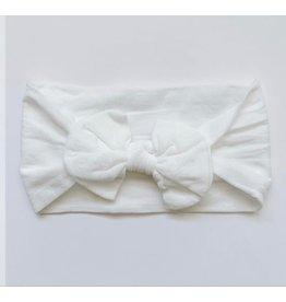 The Sugar House Sugar + Maple Nylon Bow- White