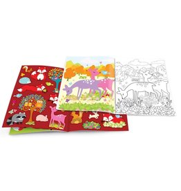 The Piggy Story Fox and Woodland Animals Dry Erase Coloring Book
