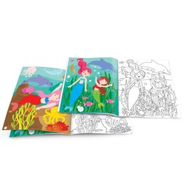 The Piggy Story Magical Mermaids Dry Erase Coloring Book