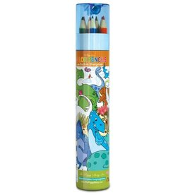 The Piggy Story Dinosaur World Color Pencils with Sharpener