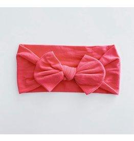 The Sugar House Sugar + Maple Nylon Bow- Hot Pink