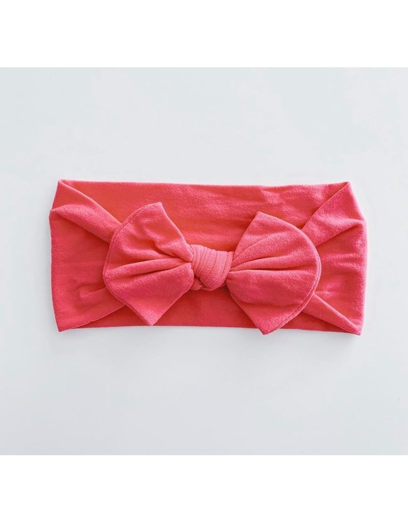 The Sugar House Sugar + Maple Nylon Bow- Hot Pink