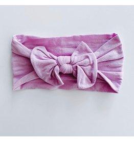 The Sugar House Sugar + Maple Nylon Bow- Lavender