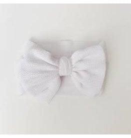 The Sugar House Sugar + Maple headwrap bow- White