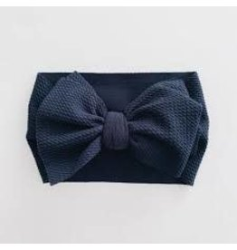 The Sugar House Sugar + Maple headwrap bow- Navy