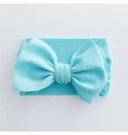 The Sugar House Sugar + Maple headwrap bow- Mint