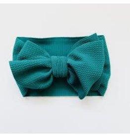 The Sugar House Sugar + Maple headwrap bow- Peacock