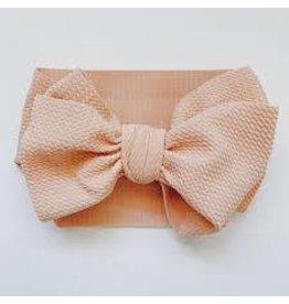 The Sugar House Sugar + Maple headwrap bow- Blush