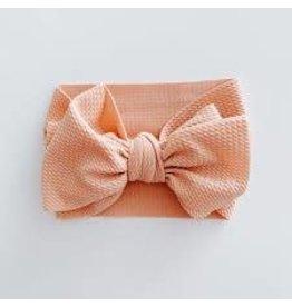 The Sugar House Sugar + Maple headwrap bow- Coral