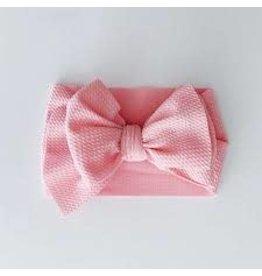 The Sugar House Sugar + Maple headwrap bow- Pink