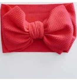 The Sugar House Sugar + Maple headwrap bow- Hot Pink