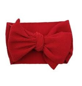 The Sugar House Sugar + Maple headwrap bow- Red