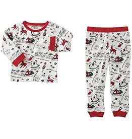 VERY MERRY RED CHRISTMAS PJS 5T