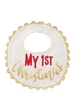 Mud Pie MY 1ST CHRISTMAS BIB