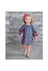 Mud Pie FLORAL EMBROIDERED DRESS 2T