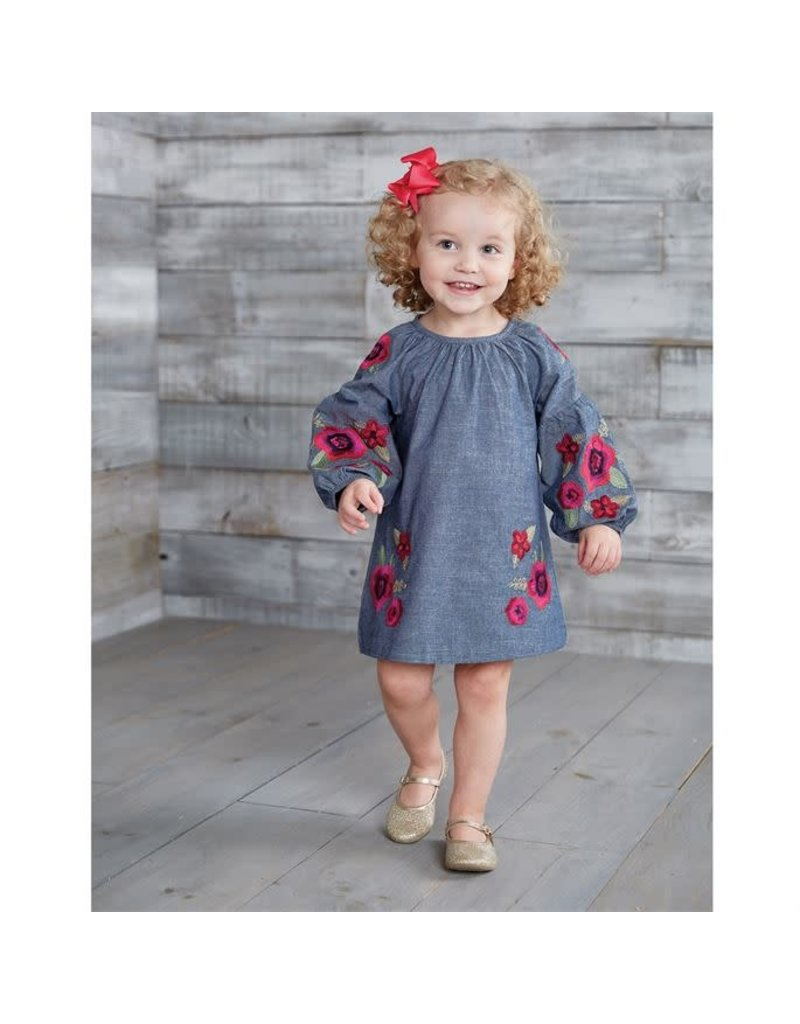 FLORAL EMBROIDERED DRESS 2T
