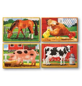 Melissa & Doug Melissa & Doug Farm Animals Puzzles in a Box