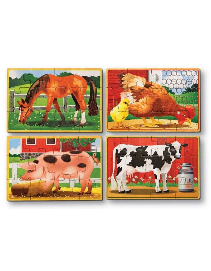 Melissa & Doug Melissa & Doug Farm Animals Puzzles in a Box