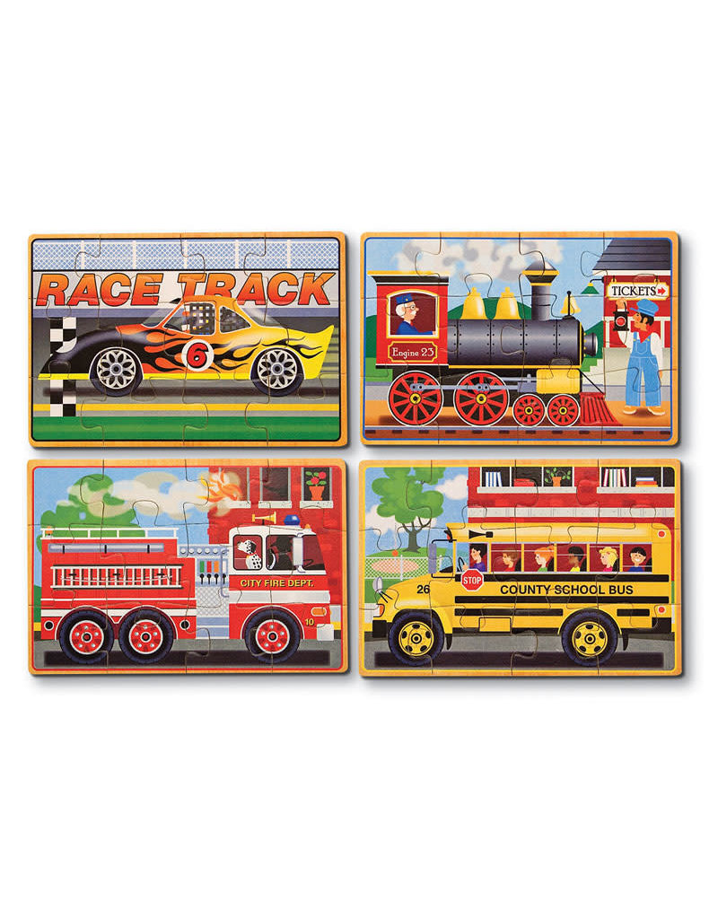 Melissa & Doug Melissa & Doug Vehicles Puzzles in a Box