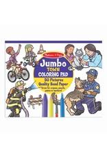 Melissa & Doug Jumbo Town Coloring Pad