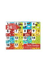 Melissa & Doug Farm Number Floor Puzzle (24 pc)