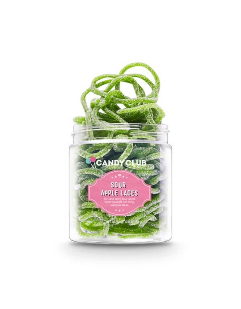 Candy Club Candy Club- Sour Apple Laces 6oz