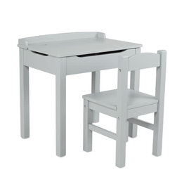 Melissa & Doug Melissa & Doug: Wooden Lift-Top Desk & Chair - Gray