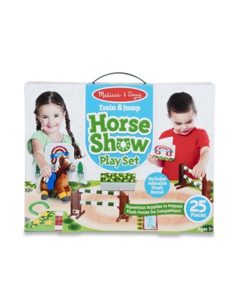 Melissa & Doug Train & Jump Horse Show Play Set