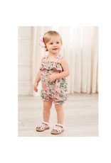 Mud Pie Petite Petals Collection Bubble Shorts Summer Outfit Set 3-6 Months / Pink