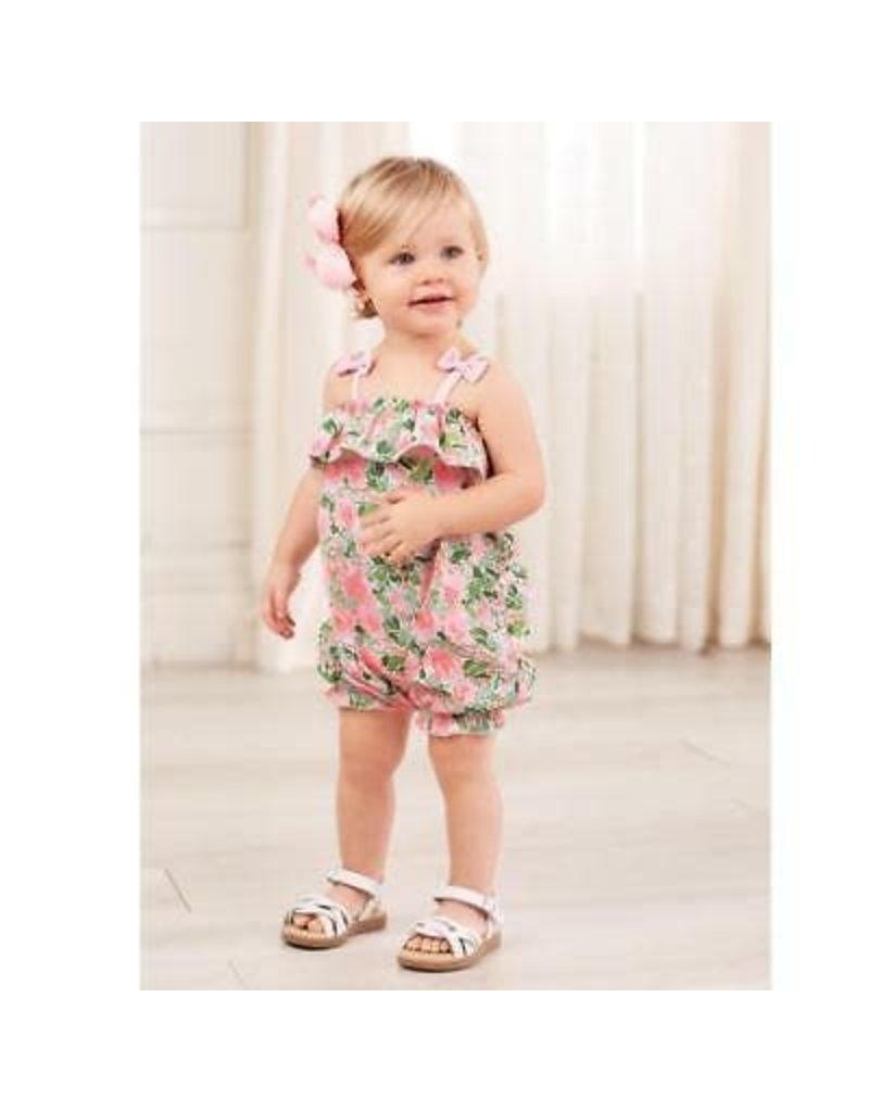 Mud Pie Mud Pie Petite Petals Collection Bubble Shorts Summer Outfit Set 3-6 Months / Pink
