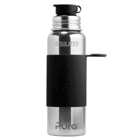 22oz Insulated Sport Bottle- Black Sleeve