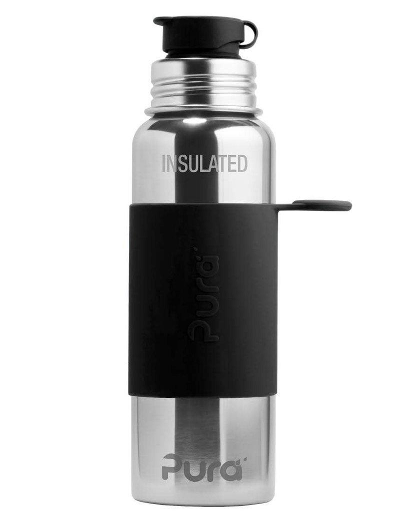 22oz Insulated Sport Bottle- Black Sleeve