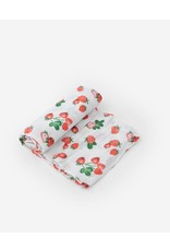 Little Unicorn Cotton Muslin Swaddle Blanket - Strawberry Patch