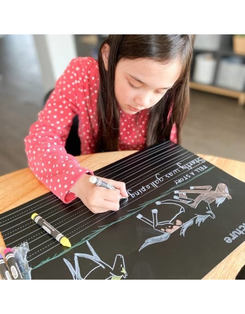 Imagination Starters Chalkboard Draw Write Placemat