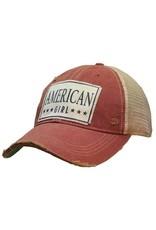 Vintage Life American Girl Distressed Trucker Cap