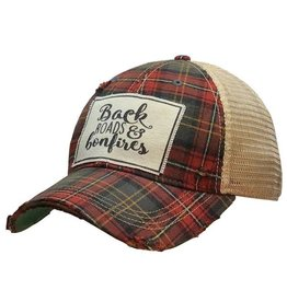 Vintage Life Back Roads & Bonfires Distressed Trucker Cap