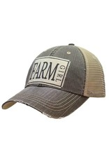 Vintage Life Farm Girl Distressed Trucker Cap