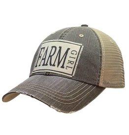 Vintage Life Farm Girl Distressed Trucker Cap