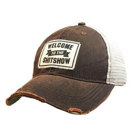 Vintage Life Welcome To The Shit Show Distressed Trucker Cap