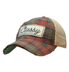 Vintage Life Classy But I Cuss A Little Distressed Trucker Cap